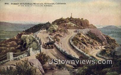 Summit of Rubidoux Mountain - Riverside, California CA Postcard