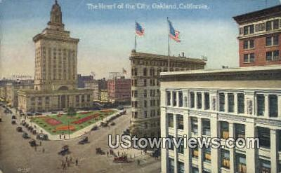 Heart of the City - Oakland, California CA Postcard