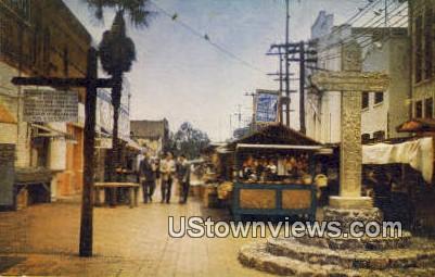 Olvera St. - Los Angeles, California CA Postcard