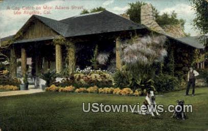 Log Cabin, West Adams Street - Los Angeles, California CA Postcard
