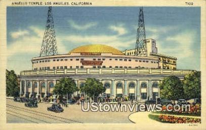 Angelus Temple - Los Angeles, California CA Postcard