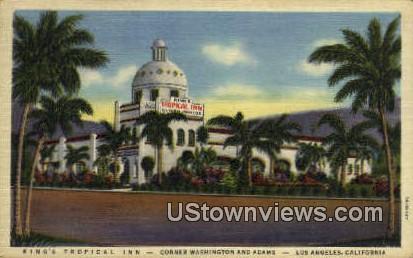 King's Tropical Inn - Los Angeles, California CA Postcard
