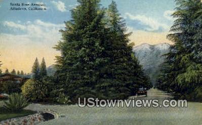 Santa Rosa Ave - Altadena, California CA Postcard