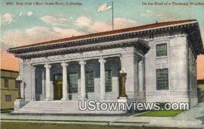 New Post Office - Santa Rosa, California CA Postcard