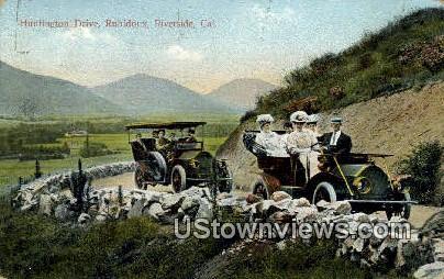 Huntington Drive, Rubidoux - Riverside, California CA Postcard