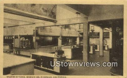 Spanish Kitchen, Mission Inn - Riverside, California CA Postcard