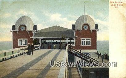 Sun Pavilion - Long Beach, California CA Postcard