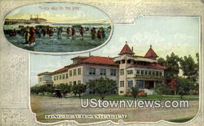 Long Beach Sanitarium - California CA Postcard