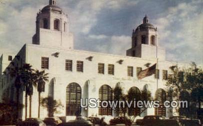 US Post Office Terminal - Los Angeles, California CA Postcard