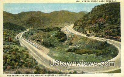 Conejo Grade - Los Angeles, California CA Postcard
