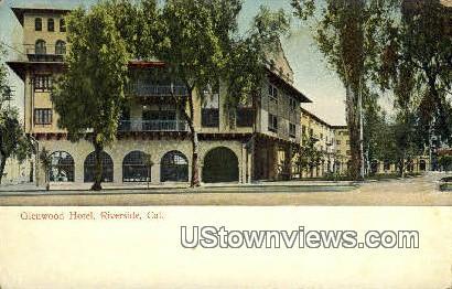 Glenwood Hotel - Riverside, California CA Postcard