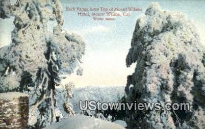 Mount Wilson Hotel - Mt. Wilson, California CA Postcard