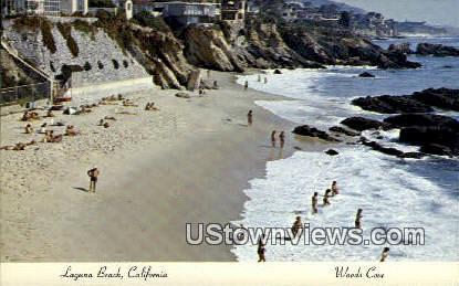 Woods Cove - Laguna Beach, California CA Postcard