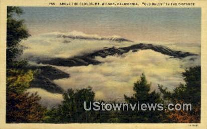 Old Baldy - Mt. Wilson, California CA Postcard