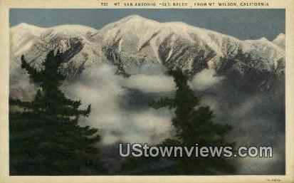 Mt. San Antonio - Mt. Wilson, California CA Postcard