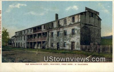 Old Washington Hotel - Monterey, California CA Postcard