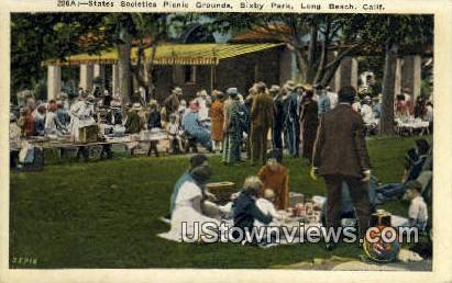 State Societies Picnic Grounds - Long Beach, California CA Postcard
