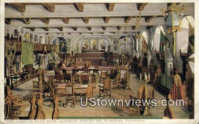 Cloister Music Room - Riverside, California CA Postcard