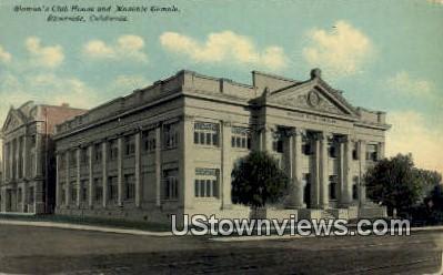 Woman's Club & Masonic Temple - Riverside, California CA Postcard