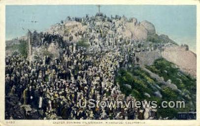 Easter Sunrise Pilgrimage - Riverside, California CA Postcard