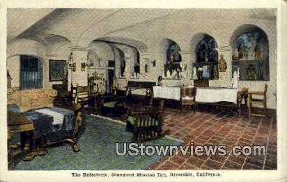 Refectorio, Glenwood Mission Inn - Riverside, California CA Postcard