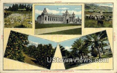 Court House - Riverside, California CA Postcard
