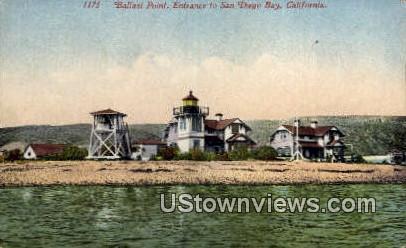 Ballast Point - San Diego Bay, California CA Postcard
