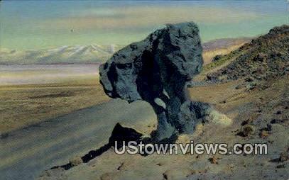 Mushroom Rock - Death Valley, California CA Postcard