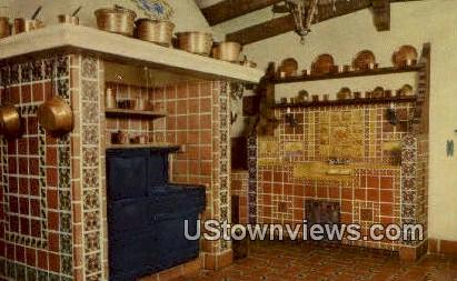Spanish Kitchen, Scotty's Castle - Death Valley, California CA Postcard