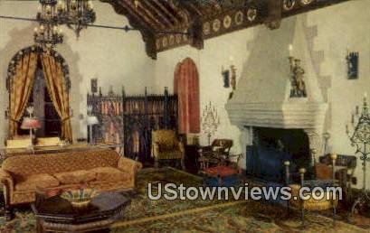 Music Room, Scotty's Castle - Death Valley, California CA Postcard