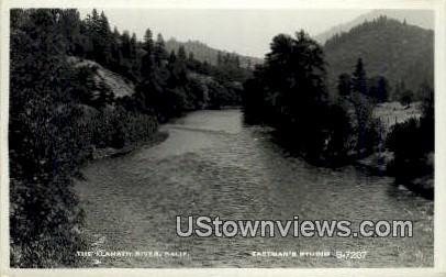 Klamath River - California CA Postcard