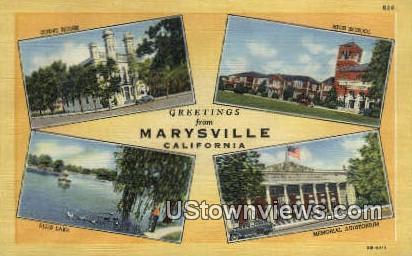 Court House - Marysville, California CA Postcard