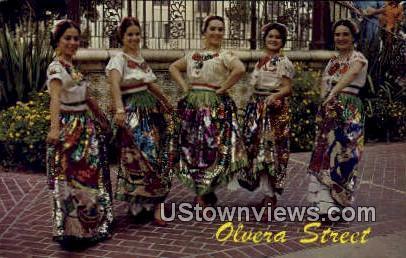 Olvera Street - Los Angeles, California CA Postcard