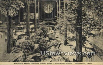 Mountain brook, Brookdale Lodge - California CA Postcard