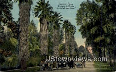 Magnolia Ave. - Riverside, California CA Postcard