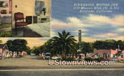 Riverside Motor Inn - California CA Postcard