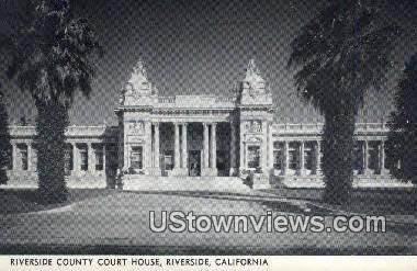 Riverside County Court House - California CA Postcard