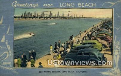 Marine Stadium - Long Beach, California CA Postcard