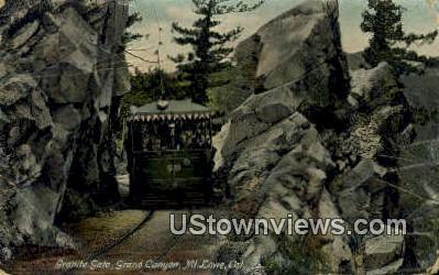 Granite Gate - Mt. Lowe, California CA Postcard