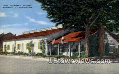 First California Theatre - Monterey Postcard