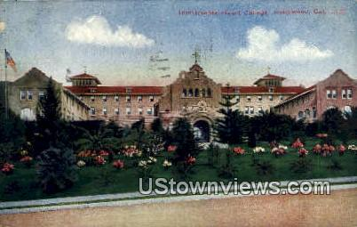 Immaculate Heart College - Hollywood, California CA Postcard