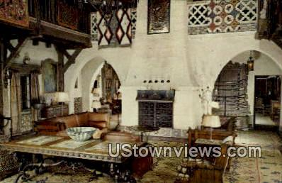 Living Hall, Scotty's Castle - Death Valley, California CA Postcard