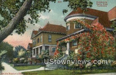 Residences - Santa Rosa, California CA Postcard