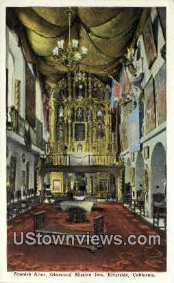 Spanish Altar, Glenwood Mission inn - Riverside, California CA Postcard