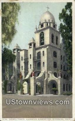 Carmel Tower - Riverside, California CA Postcard