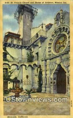 St. Francis Chapel - Riverside, California CA Postcard