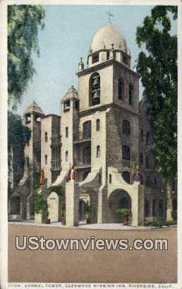 Carmel Tower, Glenwood Mission Inn - Riverside, California CA Postcard