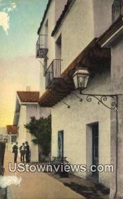 Guerra Street - Santa Barbara, California CA Postcard