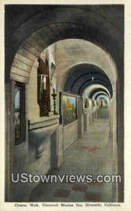 Cloister Walk, Glenwood Mission Inn - Riverside, California CA Postcard