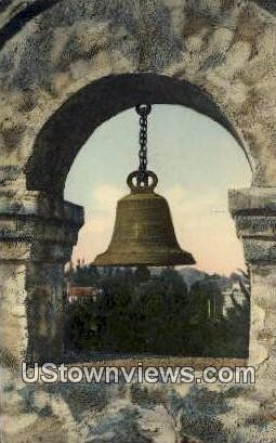 The Bell, Glenwood Hotel - Riverside, California CA Postcard